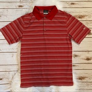 NIKE GOLF STRIPED POLO DRI FIT SHIRT SMALL